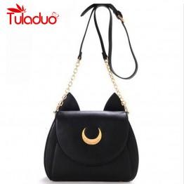 Limited Sailor Moon Chain Shoulder Bag Ladies Luna Cat
