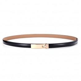 Classic wild female minimalist thin belt