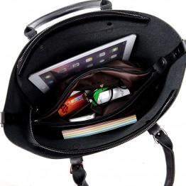 Fashionable Shoulder Leather Handbag