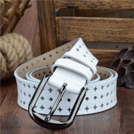 Genuine leather pin buckle belt