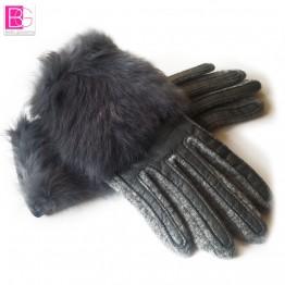 Women's Winter Sheepskin Gloves Top Lamb skin Solid Real Genuine Leather
