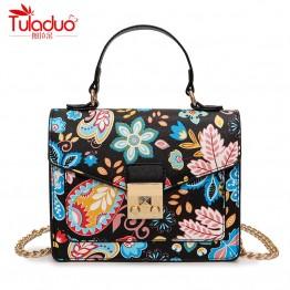 Modern Floral Printing Women Handbag