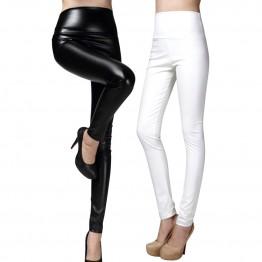 Quality PU Women Winter Leather Pants