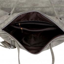 Fashionable  Women's Tassel Shoulder Bag