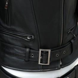 Women's 2017Rivet Zipper Motorcycle Faux Leather Coat