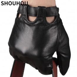 2018 Men's Leather Gloves with Genuine Sheepskin