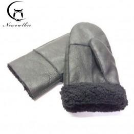 Men's Sheepskin Gloves Genuine Leather