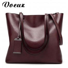 Women's Handbags Oil Wax Leather