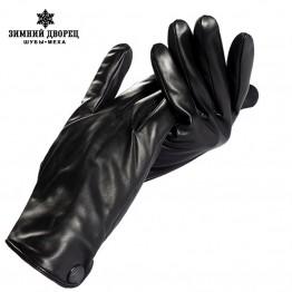 Genuine Leather,Black leather gloves for Men